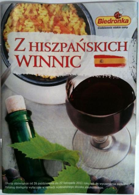 Biedronka wina hiszpańskie oferta listopad 2011