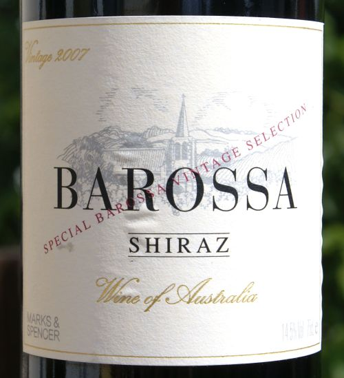 Marks & Spencer Barossa Shiraz 2007