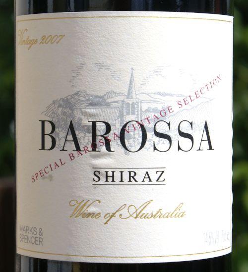Marks & Spencer Barossa Shiraz 2007