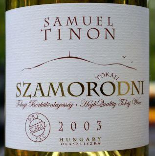 Samuel Tinon Tokaji Szamorodni Száraz 2003