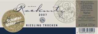 von Racknitz Riesling Schieferboden 2007
