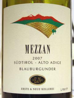 Erste & Neue Pinot Nero Mezzan 2007
