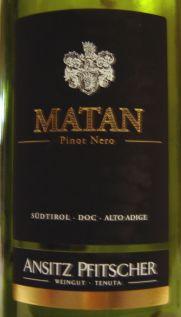 Pfitscher Pinot Nero Matan 2006