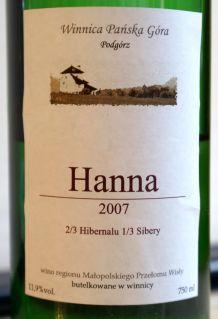 Winnica Pańska Góra Hanna 2007
