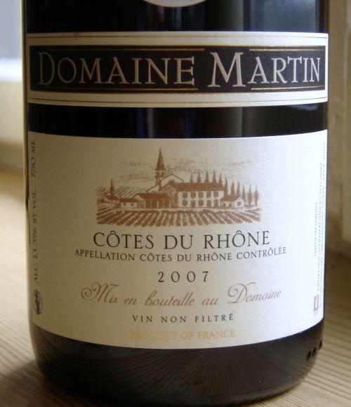 Domaine Martin Côtes du Rhône 2007
