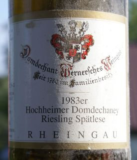 Domdechant Riesling Domdechaney Spatlese 1983
