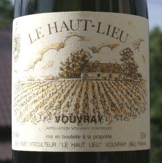 Huet Vouvray Le Haut-Lieu demi-sec 1961