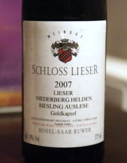 Schloss Lieser Niederberg Helden Riesling Auslese GK 2007