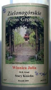 Winnica Julia Traminer-Sylvaner 2008