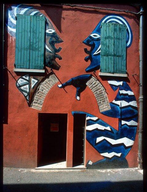 Kamil Targosz mural Dozza