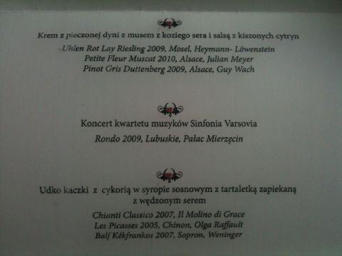 Magazyn WINO kolacja galowa Grand Prix 2011