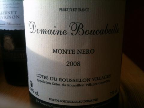 Domaine Boucabeille Cotes du Roussillon Villages Monte Nero 2008