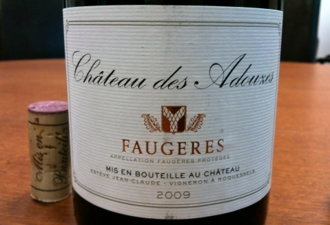 Château des Adouzes Faugères 2009