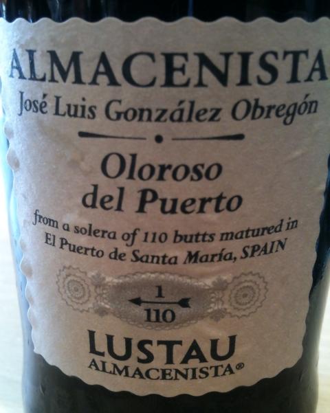 Lustau Sherry Oloroso Almacenista Jose Luis Gonzalez Obregón