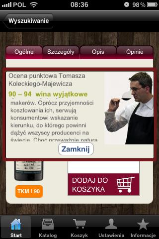 Winezja.pl aplikacja iphone