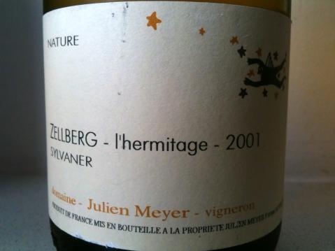 Julien Meyer Alsace Sylvaner Zellberg L'Hermitage 2001