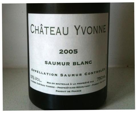 Château Yvonne Saumur Blanc 2005